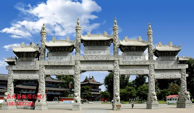 寺院佛教山门石牌坊